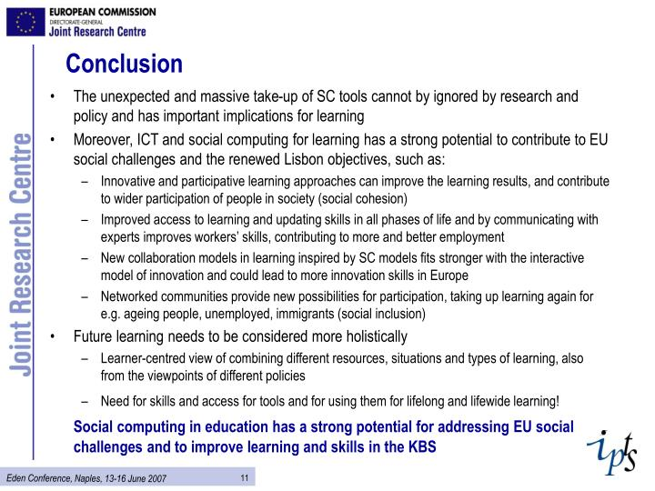 The unexpected and massive take-up of SC tools cannot by ignored by research and policy and has important implications for learning