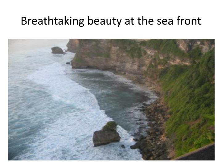 Breathtaking beauty at the sea front
