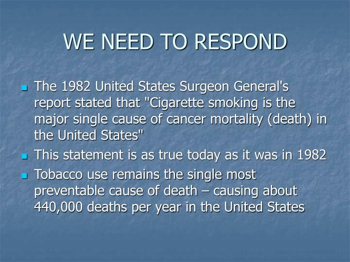 We need to respond