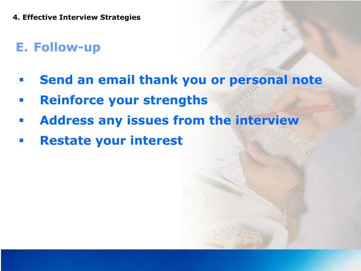 4. Effective Interview Strategies
