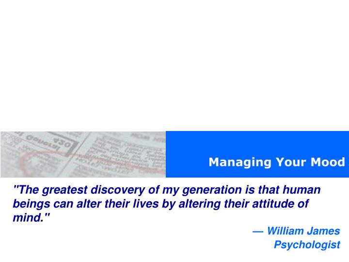 Managing Your Mood