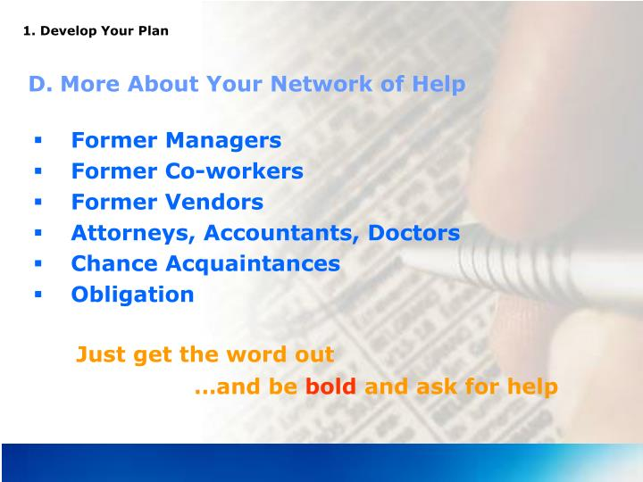 1. Develop Your Plan