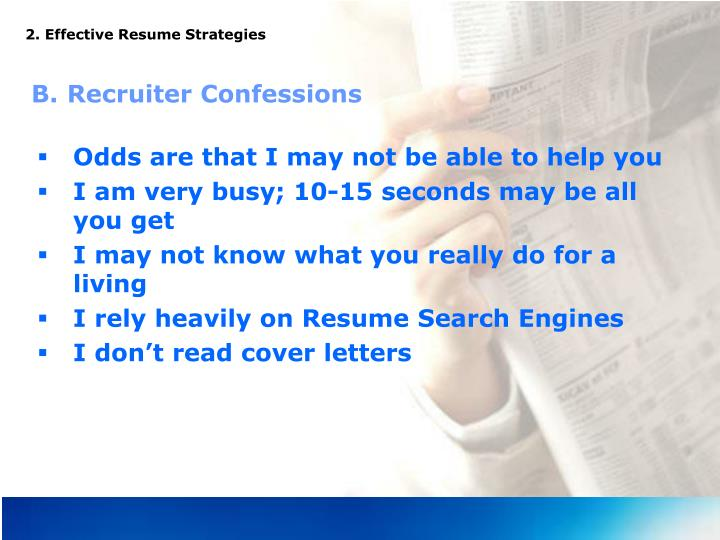 2. Effective Resume Strategies