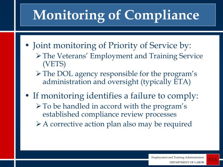Monitoring of Compliance
