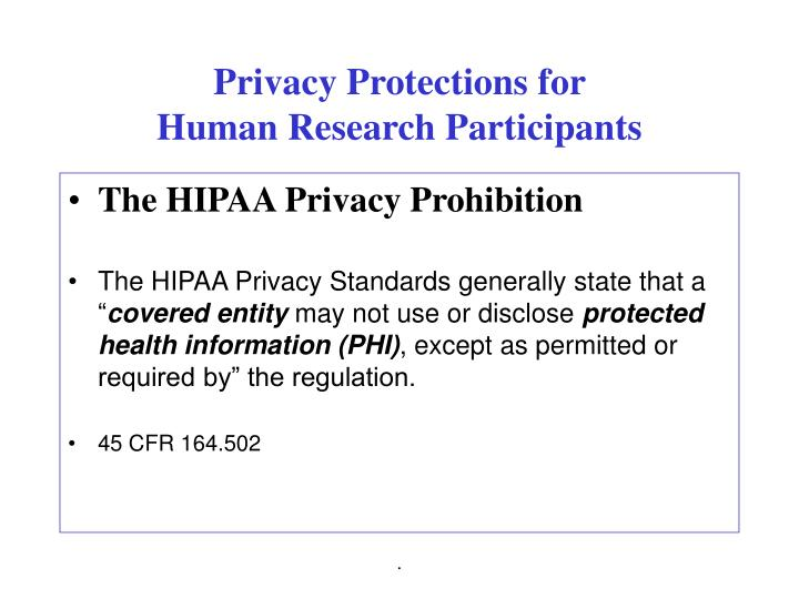 Privacy Protections for