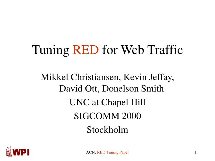 Tuning red for web traffic