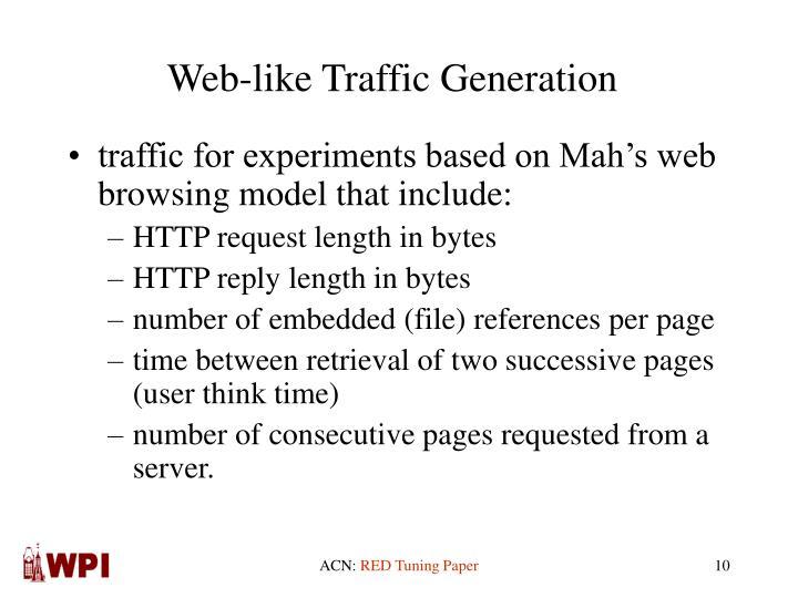 Web-like Traffic Generation