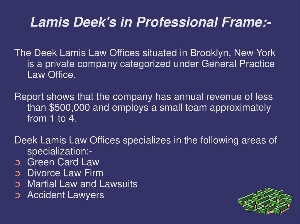Lamis Deek's in Professional Frame:-