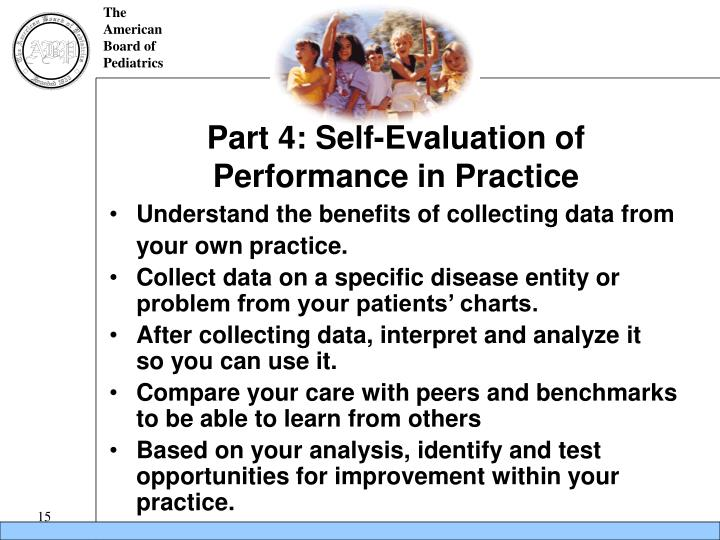 Part 4: Self-Evaluation of