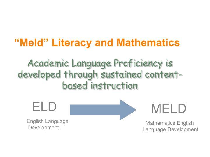 """""""Meld"""" Literacy and Mathematics"""
