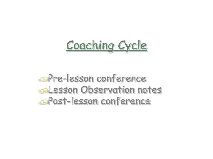 Coaching Cycle