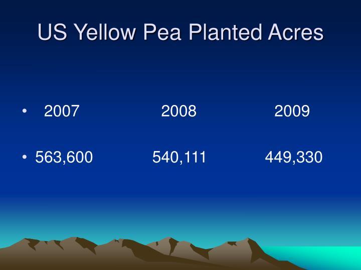US Yellow Pea Planted Acres