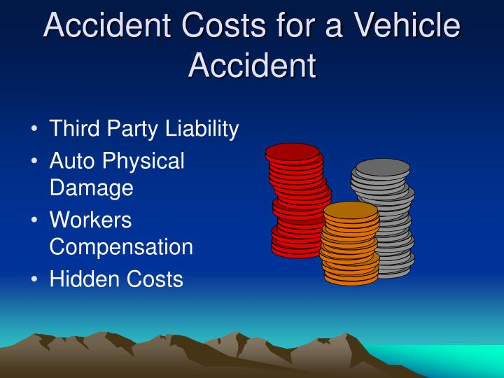 Accident Costs for a Vehicle Accident