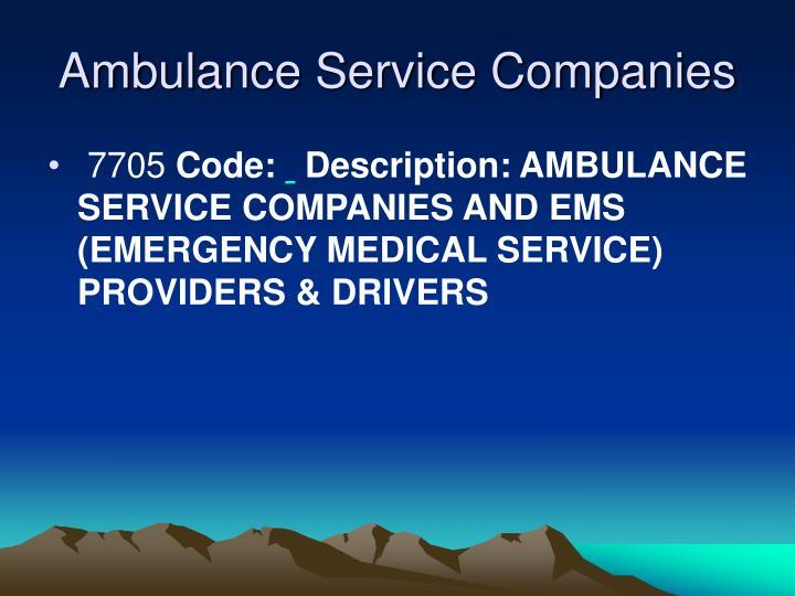 Ambulance Service Companies