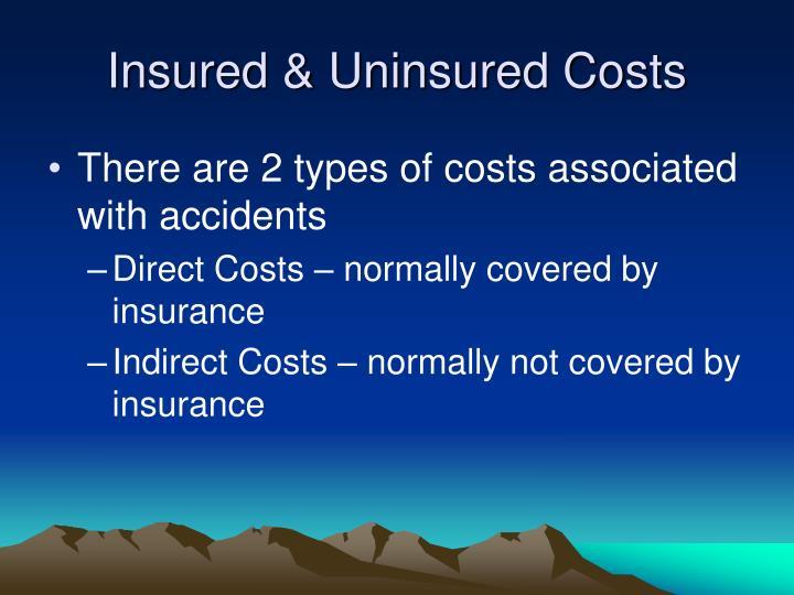 Insured uninsured costs
