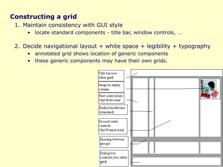 Constructing a grid