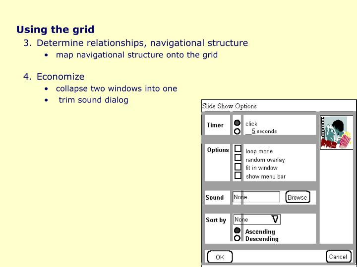 Using the grid
