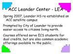 acc leander center lea
