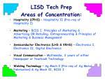 lisd tech prep areas of concentration1