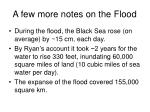 a few more notes on the flood