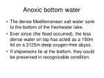 anoxic bottom water