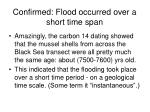 confirmed flood occurred over a short time span1