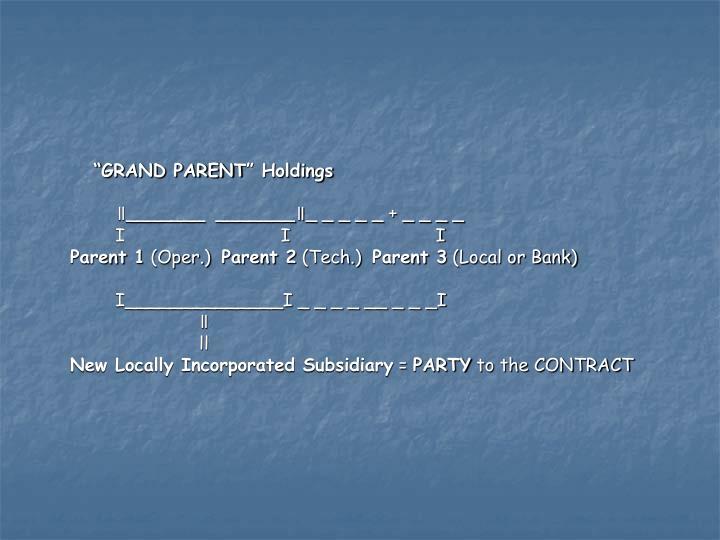 """GRAND PARENT"" Holdings"