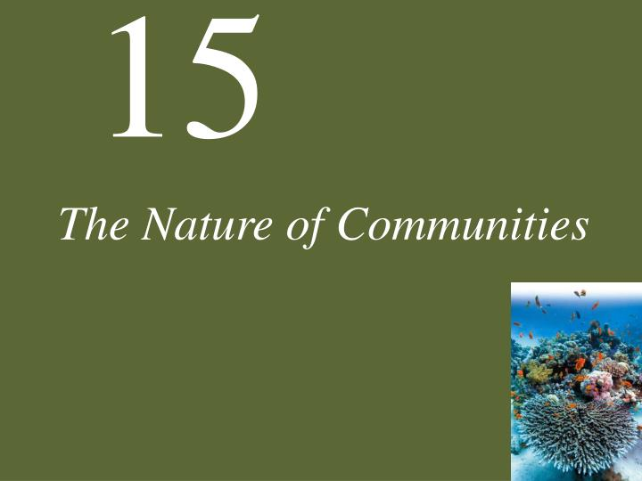 the nature of communities n.