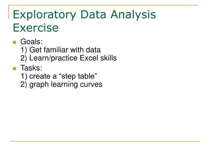 Exploratory Data Analysis Exercise
