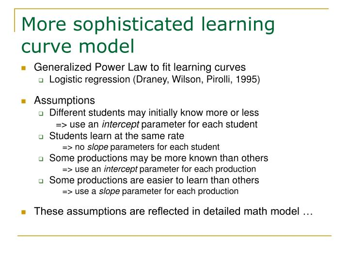 More sophisticated learning curve model