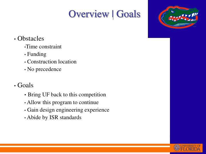 Overview | Goals