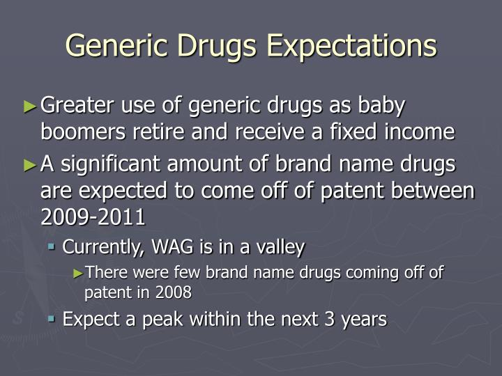 Generic Drugs Expectations