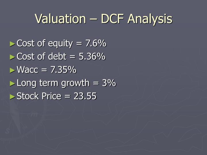 Valuation – DCF Analysis
