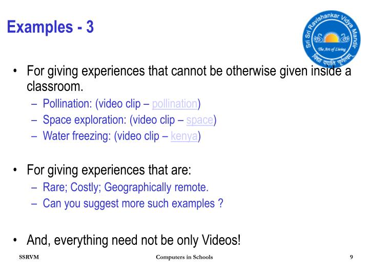 Examples - 3