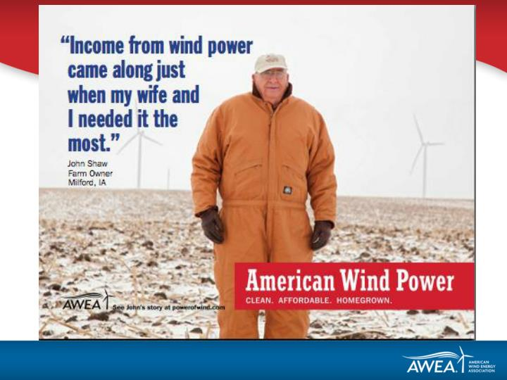 Wind has provided 35 of all new electric generating capacity in america since 2007