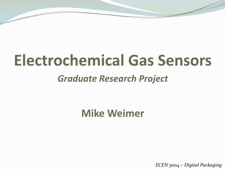 PPT - Electrochemical Gas Sensors PowerPoint Presentation - ID:1288021