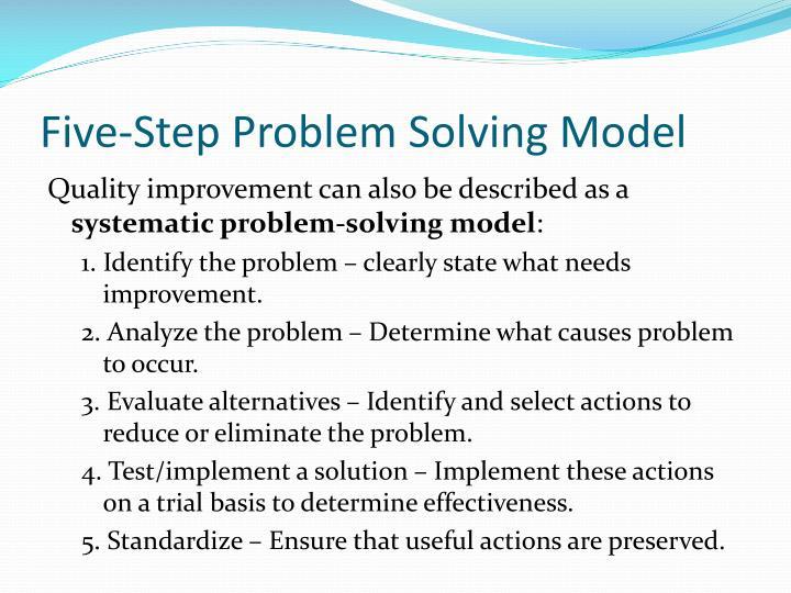 Five-Step Problem Solving Model