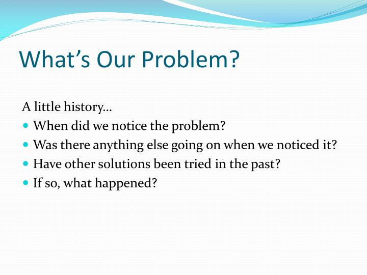 What's Our Problem?