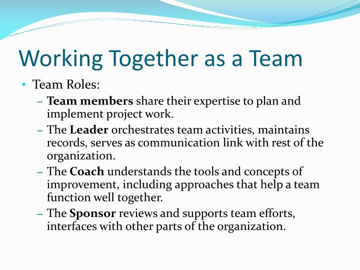 Working Together as a Team