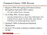 common criteria 1998 present