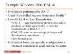 example windows 2000 eal 4