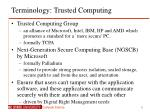 terminology trusted computing