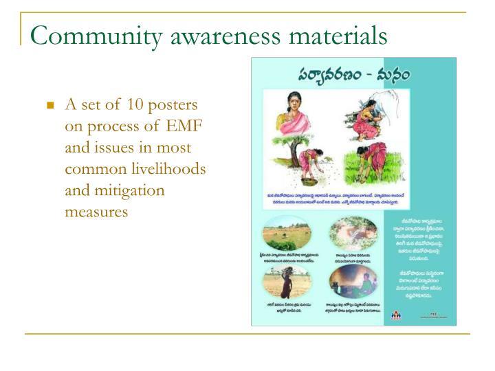 Community awareness materials
