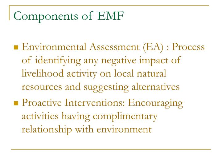 Components of EMF