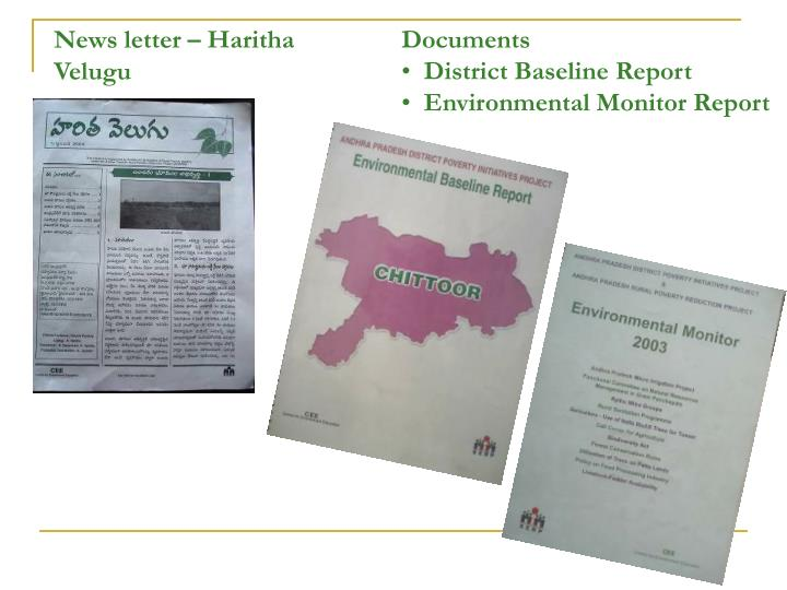 News letter – Haritha Velugu