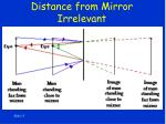 distance from mirror irrelevant