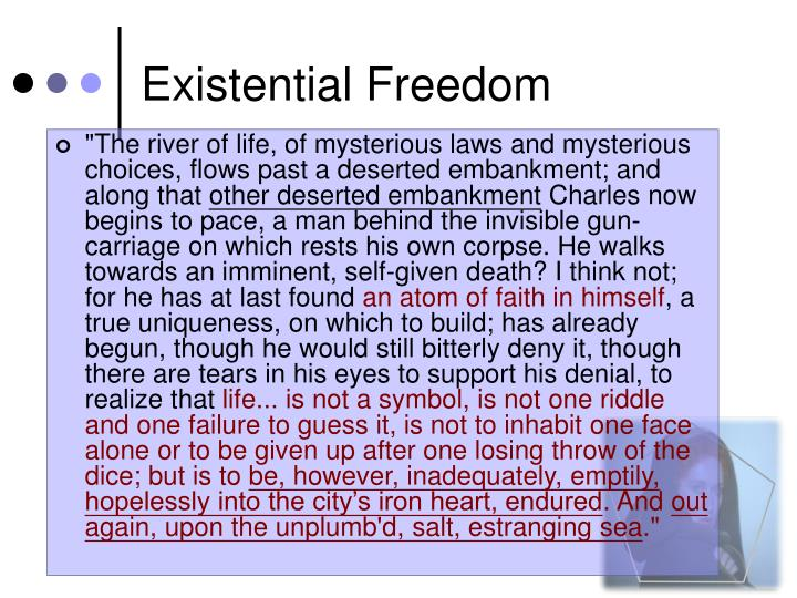 Existential Freedom