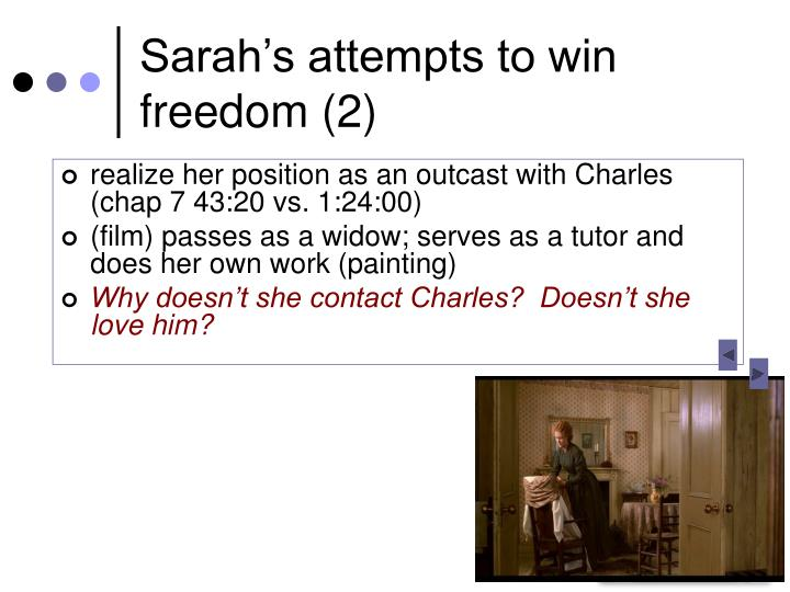 Sarah's attempts to win freedom (2)