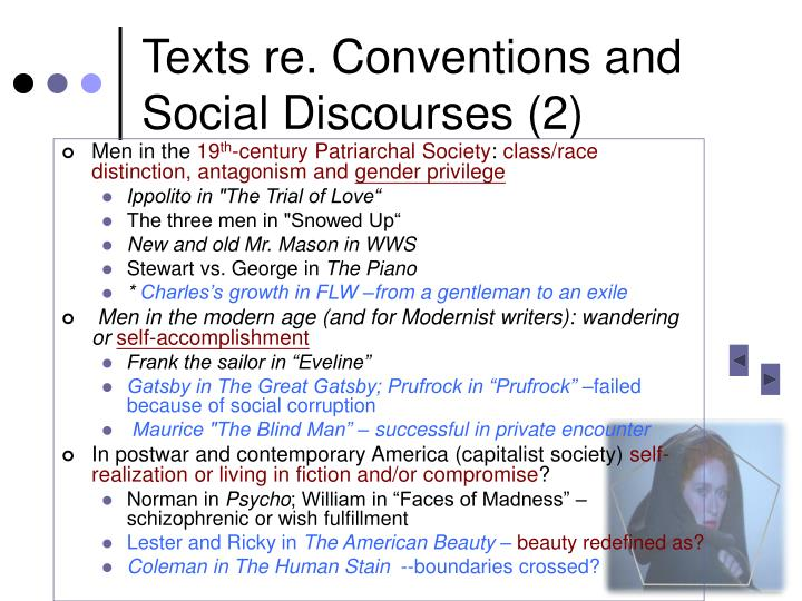 Texts re. Conventions and Social Discourses (2)