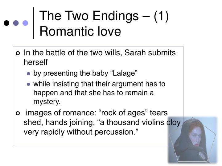 The Two Endings – (1) Romantic love